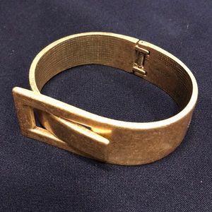 JCrew gold hinge bracelet